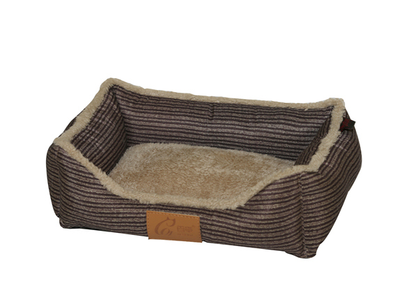 Designer Corduroy Like Microfiber Soft Plush Printed Peachskin Pet Bed For Dogs For Cats