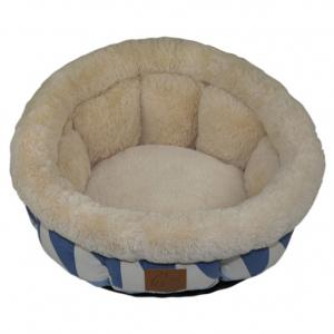 China Wholesale Modern Printing Suede Round Pet Bed Pet House Cave Cat Bedding