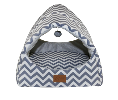 Manufacturer OEM Multifunction Luxury Cat Puppy Bed Cave Cute Interactive Entertaining Bed Teepee House Tunnel for Wholesale