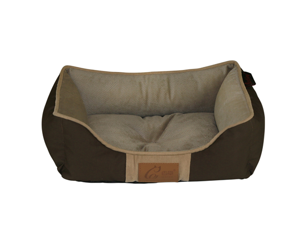 Wholesale OEM Anti-chewing Solid T/C Fleece Suede Machine Washable Pet Bed Dog Sofa Cat Couch With One-piece Design