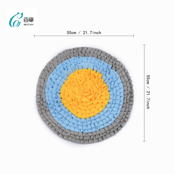 Hot Sale Round Shape Snuffle Mat Picnic Dog Sniffing Mat IQ Training Rug Stress Relief Enrichment Play Game Best Slow Feeder Fun Dog Cat Toy