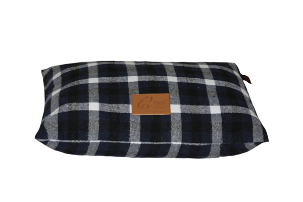 Removable Yarn Dyed Woven Cotton Tartan Plaid Pet Bed Sofa Cover Dog Mat Cushion Cat Mattress Couch Pad Pet Bed Duvet Cover Floor Cushion Decorative Pillow with Envelop Overlap Opening for Wholesale