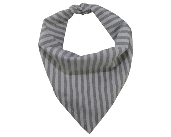 Wholesale Adjustable Striped Linen and Cotton Pet Bandana Kerchief Custom Triangle Dog Bandana Bibs Grey Pet Scarf for Puppy Dog Cat Pet Accessories OEM Neckwear Apparel