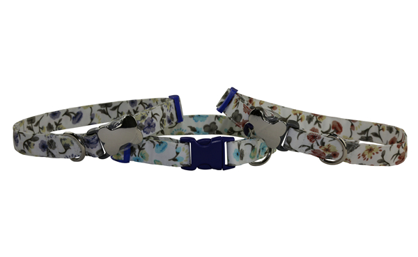 Manufacturer Cheap Adjustable Dog Collar with Welded D Ring High Quality Buckle Dog Collar Luxury Custom Puppy Collar in Floral Pattern Designer Dog Collar OEM Pet Accessories Dog Gift
