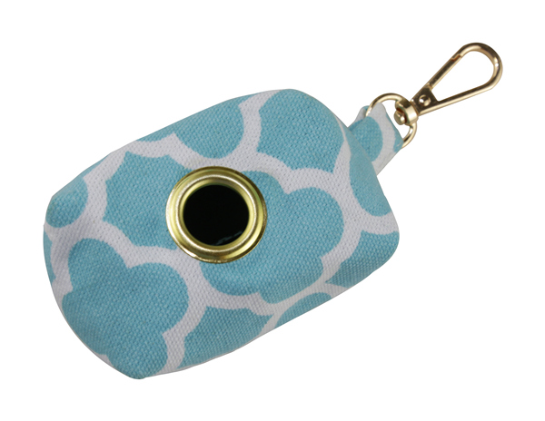 Wholesale Washable Poop Bag Holder Durable Lucky Clover Print Cotton Canvas Brass Grommet Waterproof Zipper Dog Waste Pouch Pet Waste Bag Dispenser Dog Walking Bag Pet Treat Bag Poop Bag Carrier